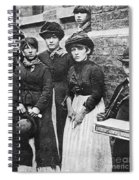 England: Women Strikers Spiral Notebook