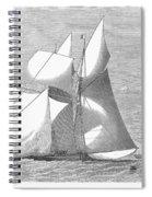 England: Yacht Race, 1868 Spiral Notebook