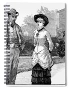 English Couple, 1883 Spiral Notebook