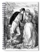 English Couple, C1870 Spiral Notebook