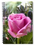 English Pink Rose Close Up Spiral Notebook