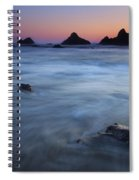 Engulfed By The Tides Spiral Notebook