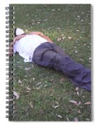 Enjoying A Snooze In A Partially Shaded Green Meadow Spiral Notebook