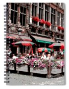 Enjoying The Grand Place Spiral Notebook