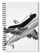 Enterprise Shuttle Ny Flyover Spiral Notebook