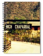 Entrance To The High Chaparral Ranch Spiral Notebook