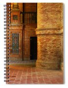 Entry To The Spanish Pavillion In Sevilla Spain Spiral Notebook