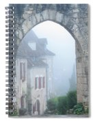 Entryway To St Cirq In The Fog Spiral Notebook