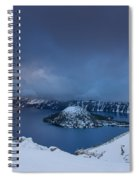 Enveloping Storm At Crater Lake Spiral Notebook