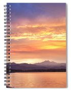 Epic August Colorado Sunset  Spiral Notebook