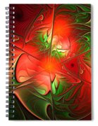 Eruption - Abstract Art Spiral Notebook