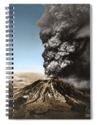 Eruption Of Mount St. Helens Spiral Notebook