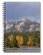 Estes Park Autumn Lake View Vertical Spiral Notebook