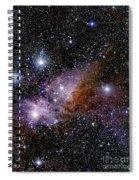 Eta Carinae Nebula, Infrared Image Spiral Notebook