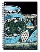 Etched Pottery Spiral Notebook