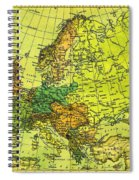Europe Map Of 1911 Spiral Notebook