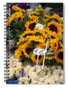 European Markets - Sunflowers And Roses Spiral Notebook