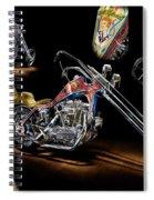 Evel Knievel Harley-davidson Chopper Spiral Notebook