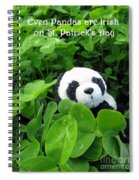 Even Pandas Are Irish On St. Patrick's Day Spiral Notebook