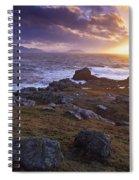 Evening At Breasty Bay Near Malin Head Spiral Notebook