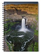 Evening At Palouse Falls Spiral Notebook