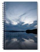 Evening Clouds Over Haukkajarvi Spiral Notebook