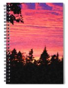 Evening In Paradise Painterly Style Spiral Notebook