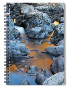 Evening Light On The Black River At Johnsons Shut Ins State Park IIi Spiral Notebook