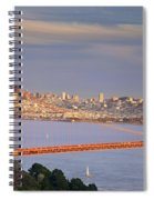 Evening Over San Francisco Spiral Notebook
