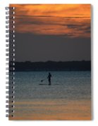 Evening Paddleboarder Spiral Notebook