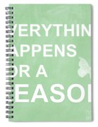 Everything For A Reason Spiral Notebook