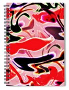 Evolve Abstract Painting Spiral Notebook