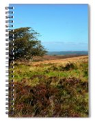Exmoor's Heather-covered Hills Spiral Notebook