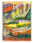 Exotic Places In My Mind Spiral Notebook