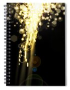Explosion Of Lights Spiral Notebook
