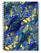 Exquisitely Blue Spiral Notebook