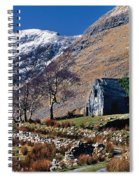 Exterior Of Rustic Home Spiral Notebook