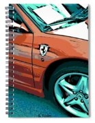 F355 Spider Spiral Notebook