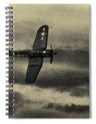 F4u Corsair In Sepia Spiral Notebook