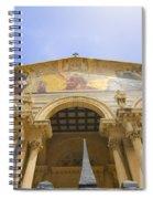 facade of Church of all Nations Jerusalem Spiral Notebook