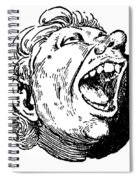 Face, 19th Century Spiral Notebook