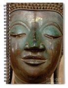 Face Of Bronze Buddha  Spiral Notebook