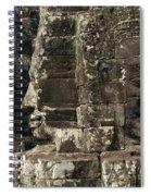 Faces Of Banyon Angkor Wat Cambodia Spiral Notebook