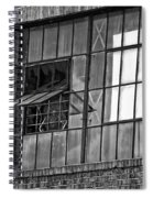 Factory Air In New Orleans In Black And White Spiral Notebook