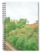 Factory And Trainlines Spiral Notebook