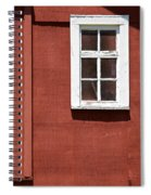 Faded Red Wood Farm Barn Spiral Notebook
