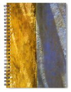Faded Yellow And Blue Plaster Walls Meet Spiral Notebook