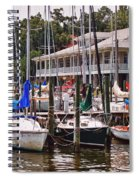Fairhope Yacht Club Sailboat Masts Spiral Notebook