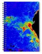 Fal-col Satellite Image Of Coastal Spiral Notebook