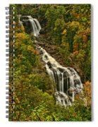 Fall At Whitewater Falls  Spiral Notebook